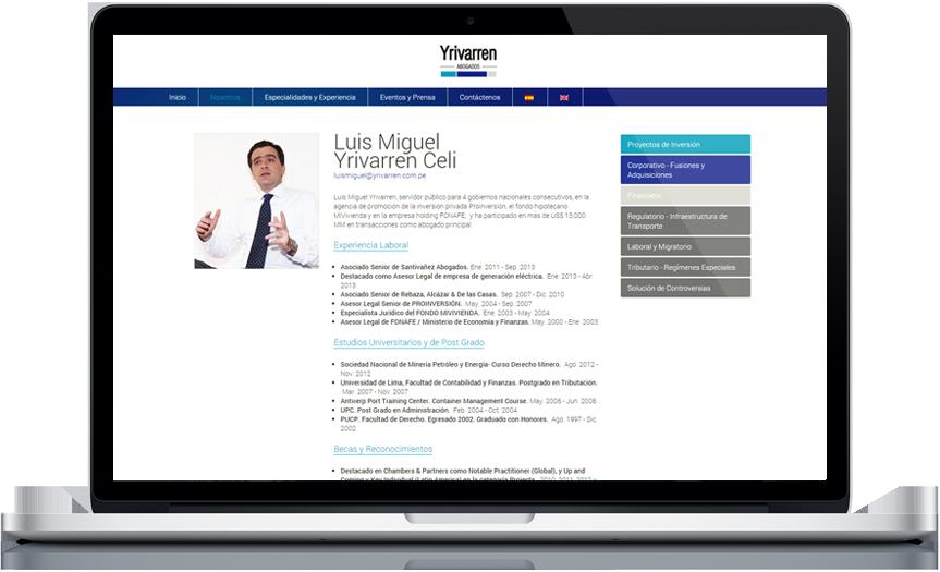 Cliente: Yrivarren Abogados - www.yrivarren.com.pe - páginaInterna - Desarrollado por ASTRO Estudio Multimedia